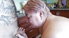 bbw milf loves getting a mouthful of cum after a blowjob 17