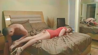 Please take off my shoes and fuck me in a wet pussy!