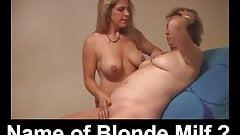 Name of Blonde Mature Milf Mom Swinger Bisexual?