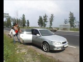 Latinas fucking in the car Young couple fucking in the car