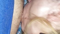 Get my big cock sucked by a little blond