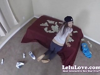 Girl getting hardcore fingered - Amateur girl gets fingered and fucked on a bed full of cash