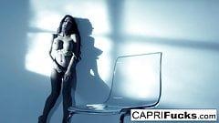 Capri Cavanni shows off her athletic body