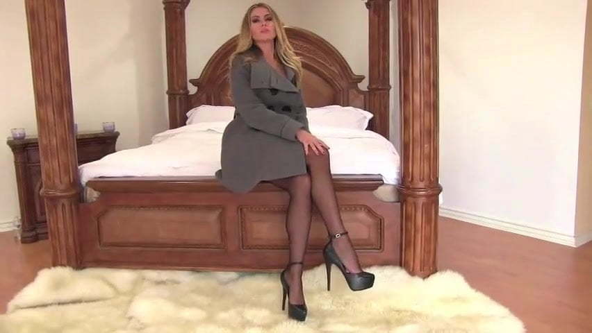 Blond Stockings High Heels
