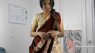 Horny South Indian sister in law role-play in Tamil with subs