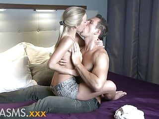 Thin sperm Orgasms thin blonde enjoys passionate foreplay and fucking