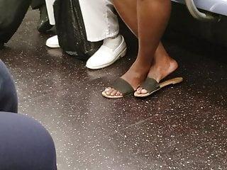 Ebony milf fetish - Candid ebony feet