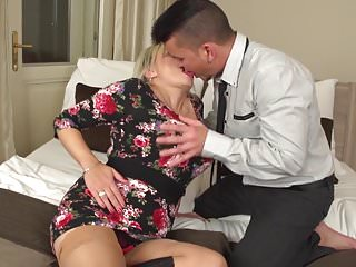 Big mature mother tits - Posh mature mother seduce young son