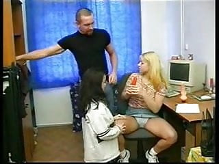 Teenage males nudist A dad play with 2 teenagers girls and their sextoys