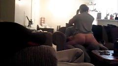 Wife naked on brothers lap, husband watches