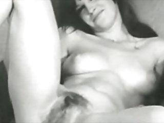Vintage model photography - Vintage models showing pussy bw vol 01