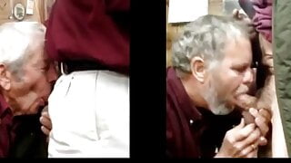 Daddy and Grandpa POV Side by Side sucking