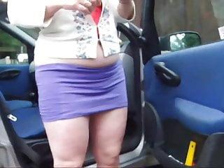 Cyrus upskirt car Wife tidying the car