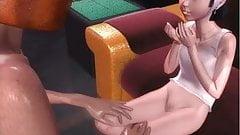 3D anime movie with creampie sex scene