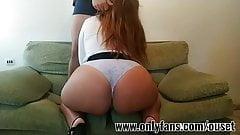 Latina with huge ass bounces on my cock
