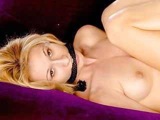 Tied and roped by femdoms - Blonde woman tied up and gagged with rope - whats her name