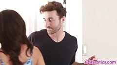 Girlfriend babe pussyfucked before cumshot