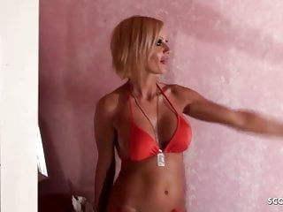 How to create boy boobs - German mother kada teach young boy how to fuck milf good