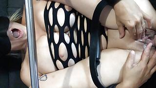 Slut wife slave bound tied gag fuck cum in pussy creampie