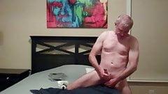 wild dildo ride and orgasm