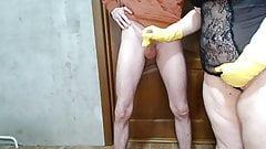 Rubber Gloves Handjob
