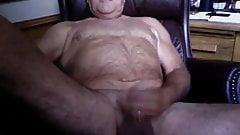 Old man daddy cum on cam 44