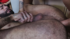 Older gay dude fucks young handsome one
