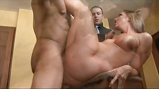 STEP MOM'S CUCKOLD 4 mature and bbc in front of her husband