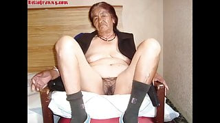 HelloGrannY Hairy Latin Cunts In Magical Slideshow