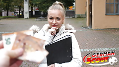 GERMAN SCOUT - REAL COLLEGE TEEN FUCK AT PICK UP CASTING