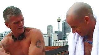 Two swimmer stepdaddies fuck