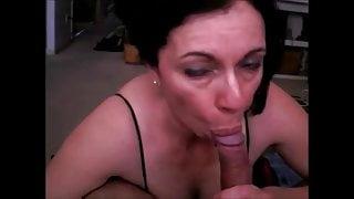 Latina milf blowjob handjob and cum in mouth