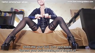 I'll fuck you,filthy whore.Anal instruction JOI for sissy