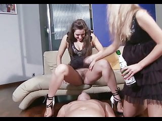 Dont pee on someones shoes - Slave gets pee and licking shoes