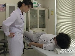 Caught the nurse giving handjob - School nurse giving a great hand blowjob