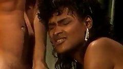 Vintage Ebony Angel Kelly Does 2 Guys