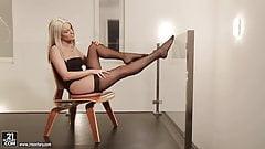 Бланшные ступни с ошейником