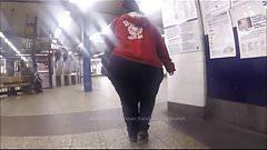 Massive Elephant Candid Donk Booty Walking in Subway