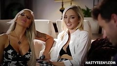 Babysitter wants to squirt! - Nina Elle and Zoe Parker