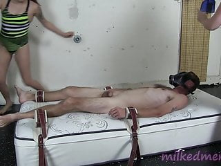 Xhamster lesbian bondage milk - Femdom gas mask medical bondage milking