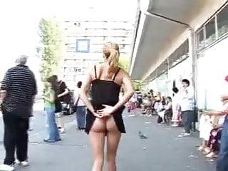 Teen girls nude public Girl flashing nude in street by troc