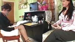 Milf gets spanked in the office