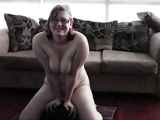 Amateur sybian videos free Geeky chubby girl riding a sybian