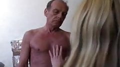 Dity old guy fuck a young blond