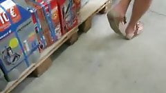 upskirt showing slip