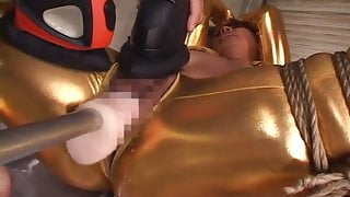 Golden girl receiving the craziest toy session ever
