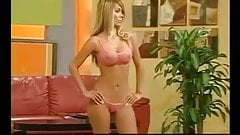 Amazing transparent bikini fashion on TV