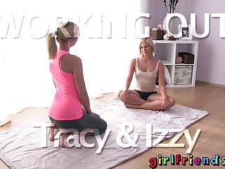 Naked floor exercise Girlfriends sexy blondes exercise and fuck on the floor