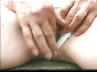 Overthumbs granny outdoor sex Granny norma outdoors with big toys and a suck to finish