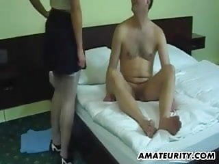 Homemade fcial blowjob - Amateur girlfriend homemade threesome with facial